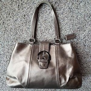 Vintage Coach metallic bronze bag L1193-F18751
